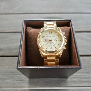 Michael Kors gold-band watch